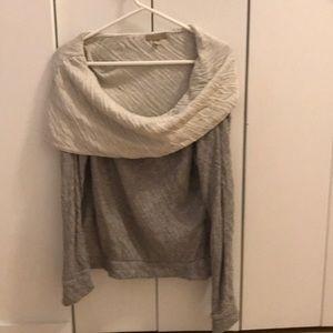 Soft off the shoulder sweatshirt